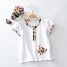 Wholesale Academic Shirt Solid round neck baby girl shirt