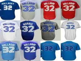2017 Stitched Mens Womens Kids Toddlers Toronto 32 Daniel Norris 32 Roy Halladay White Grey Red Blue Cheap Cool Flex Base Baseball Jerseys