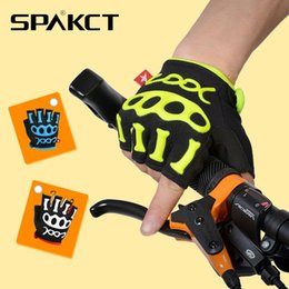 Spakct 2014 New Hot! MTB BMX Bicycle Gloves Bike Outdoor Sports Short Finger Half Finger Cycling Gloves Skeleton King 3 Colors