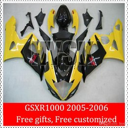 Wholesale OEM Yellow Black GSXR1000 K5 GSX R1000 GSXR Injection ABS Mold Fairing Kits For Suzuki Aftermarket Motorbike Parts