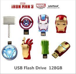 Wholesale 2015Iron Man3 hand Energy ring series gb USB Flash drive Memory drive Stick Pen ThumbCar USB disk01