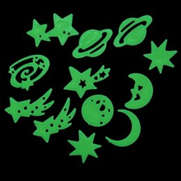 Fluorescent Stickers Universe Planet Star Glow Dark Luminous Celling Wall Art Home Paste Ceiling Decoration Decal Tags Decor