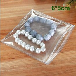 "6*8cm (2.4*3.1"") Plastic Clear PVC Anti-oxidation Jewelry Pearl Jade Packing Bag Resealable Zipper Top Ziplock Packaging Polybag Pouch"