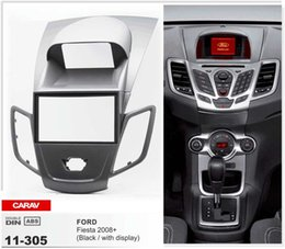 CARAV 11-305 Top Quality Radio Fascia for FORD Fiesta 2008+ w display (Black) Fascia Dash CD Trim Installation Kit