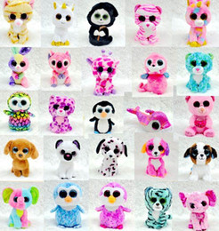 Ty Beanie Boos Plush Stuffed Toys Big Eye Cute Teddy Bear Rabbit Animals Soft Toys Colorful Children Small Animals Dolls Plush Gifts