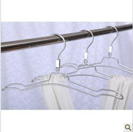 Wholesale 2014 Rushed Direct Selling White cm Hangers for Clothes Stainless Steel Aluminum Hanger Rack Silver