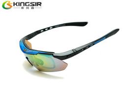 Wholesale-Ks outside sport riding eyewear windproof sand polarized sunglasses mountain bike bicycle glasses with myopia frame