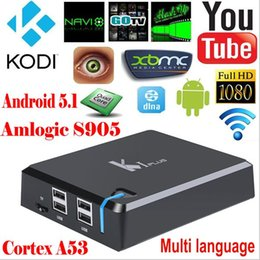 Wholesale XBMC KODI Full Loaded KI Plus Amlogic S905 Internet Smart TV Set Top Box k With Free Movie Android Quad Core Digital TV Box