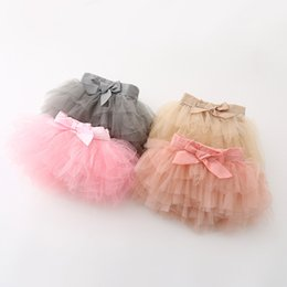 2016 New Kids Girls Candy Color Tutu Skirts Ruffles Bows Princess Party Skirts Multi Color 6pcs lot