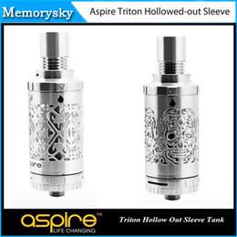 100% d'origine Aspire Triton évidé 3.5ml manches remplacement du réservoir en acier inoxydable Triton Tube Ecigarette réservoir pour Triton 2015 002 853 à partir de des tubes métalliques creux fournisseurs