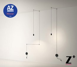 Wholesale Replica item AZ Award Winner Led lights lamp designer modern line wire pendant DIY black line light wireflow