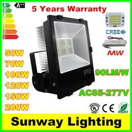 Wholesale Cree LED Floodlights W W W W W W W Floodlight Landscape Lighting LED Flood Lights Outdoor waterproof LED Lamps AC90 V