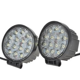 2PCS 4 INCH 42W LED WORK LIGHT FLOOD OFFROAD LIGHT FOR TRUCK TRAILER BOAT JEEP MOTORCYCLE 12V24V FOG LIGHT
