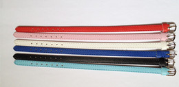 Wholesale 50PCS 10MM High Quality PU Leather Wristband Bracelet DIY Accessory Fashion Wristband Fit 10MM Slide Letters Slide Charms WB02-2