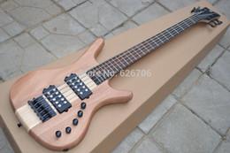 Descuento cuerdas custom shop Custom Shop Maple Fretboard Negro Hardware W LTD Corvette 5 Cuerdas 9V Bajo Kit de Guitarra Eléctrica Disponible