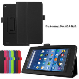 Wholesale 1pc Two Folding PU Leather Case Stand Cover for Amazon Kindle Fire HD HD HD Tablet PC Case