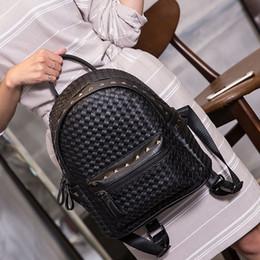 Wholesale 2016 Fashion Classic Backpack High Quality PVC Rivets Handbags Schoolbag Travel Daily Bag Rain EXO Same Design Bags for women
