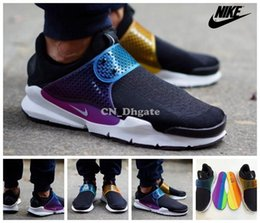 Wholesale Nike Sock Dart SP Multi Color Straps Black Purple Green Yellow Red Men Women Running Shoes New Airmax Max90 Casual Athletics Shoes