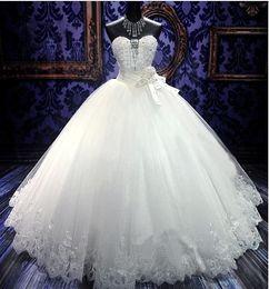 Latest Design Princess Ball Gown Wedding Dresses Crystal Long W1418 Stunning Romantic Fashion Shiny Bridal Gowns High Quality