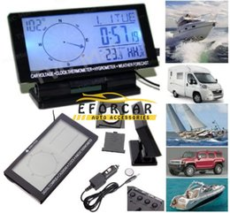 Wholesale Multi function LCD Digital Car Compass with Clock Temperature Voltage Display Outdoor camping hiking car travelling tools