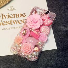 Moda 3D Bling labios DIY teléfono celular iPhone4,4s, 5s, samsung s5 caso - rosa Deco Den Kit desde iphone bling la rosa proveedores