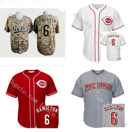 Wholesale Hot sale Youth Cincinnati Reds Billy Hamilton Jersey Kids Cool Base Embroidery Stitched Authentic Baseball Jerseys size S XL