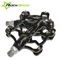 Wholesale RockBros quot Aluminium Outdoor Sports BMX MTB Mountain Fixie Bike Bicycle Parts Cycling Cycle Platform Pedals Color
