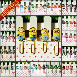 Wholesale Novelty set Minions Elsa Tinker Bell Princess Paper Clips Bookmarks for Book Page Holder School Office Supplies Stationery Kids Gifts