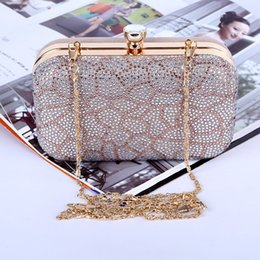 Wholesale Factory brand new handmade adorable diamond evening bag clutch purse with satin PU for banquet party brides maids(More colors)