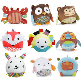 Wholesale New Multifunctional Baby Toys Plush Toy Soft Toy Baby Dolls Kawaii Stuffed Animals with Ring Paper