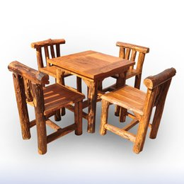 Wholesale Thai handicrafts boutique home decor wood dining tables living room coffee table dining table suits Southeast Asia