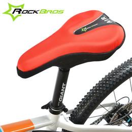 2015 RockBros Pro Representativas Esponja Lycra Nylon ventila el amortiguador del cojín suave bicicleta de la bici del asiento de una silla cubierta desde almohadilla para el ciclismo fabricantes