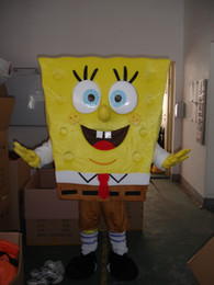 Wholesale real picture high quality Spongebob Costumes Sponge bob Mascot Costume Spongebob Fancy Costume Halloween Sponge bob Carnival Costume F