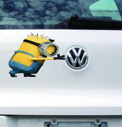 Wholesale 2015 Fashion New Cute Despicable Me Minions Car Tail Stickers Decals Cars Auto Styling Decal