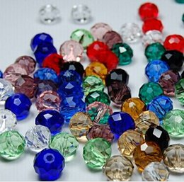 Wholesale Assorted china top assorted crystal beads MM MM MM MM Faced glass beads crystal rondelles beads