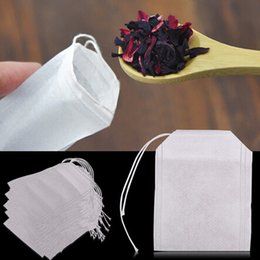 Wholesale 1set Empty Teabags Tea Bags String Heal Seal Filter Paper Teabag x CM for Herb Loose Tea