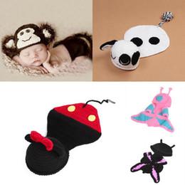 2017 cute baby accesorios de fotografía Diseños preciosos del niño del bebé fotografía apoya infantil lindo bebé de los niños Animal crochet Trajes Traje determinado estrenar XDT10-19 descuento cute baby accesorios de fotografía