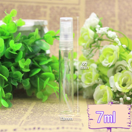 wholesale 100pcs lot 7ML Glass Perfume Bottle,7cc Refillable Fragrance Perfume Atomizer,Glass Sprayer Bottle