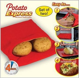 Wholesale 10 Potato Express Microwave Baked Potato Cooking Cooker Bag Washable cooks Polypropylene quot X7 quot X0 quot