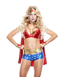 Game Uniform Supergirl Costume Halloween Party Dress Wonder Role Play