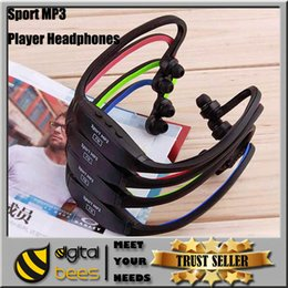 Wholesale New Wireless Sport MP3 Player Headphones Headset Wrap Around Wireless TF Card Slot FM Radio Portable Sport Headphones Music Sport MP3