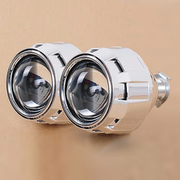 Wholesale bi xenon Pro HID Bi xenon Projector Headlight Lens H1 H4 H7 LHD RHD Use H1 Xenon Bulb Car Styling