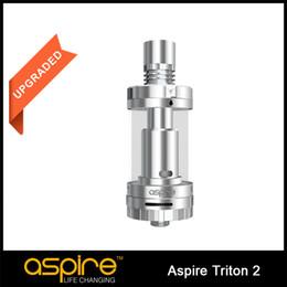 100% Authentic Aspire Triton 2 Atomizer Clearomizer 3ML Aspire Triton Two Tank With RTA System,Pyrex Aspire Triton Atomizer for Ecig