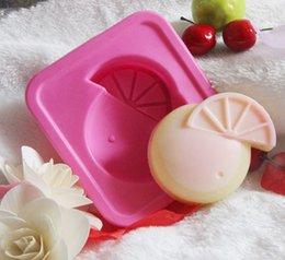 Wholesale Single watermelon silicone mold baking chocolate pudding cake mold soap mold Handmade soap breast milk cartoon cake tools toys
