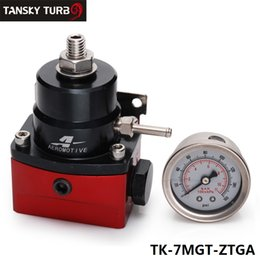 Wholesale TANSKY High Performance car racing parts AN JDM Adjustable Black Red Fuel Pressure Regulator PSI TK MGT ZTGA