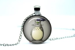 Wholesale 10pcs My neighbor totoro Japanese animated fantasy film by Studio Ghibli Glass Photo Cabochon Necklace