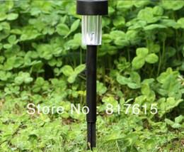 Wholesale-10pcs lot LED Plastic Solar Light Solar Garden Light Outdoor Solar Landscape Light Lamp Lawn