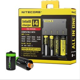 Wholesale New Nitecore i4 Intellicharge Universal Battery Charger Li ion NiMH Battery Charger RCR123A AA AAA WIth Retail box