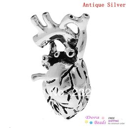 Wholesale Fashion Jewelry Pendants Charm Pendants Human Anatomical Heart Antique Silver mm x mm B32660 yiwu silver plated champagne flutes