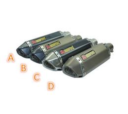 Wholesale Universal Modified Akrapovic yoshimura Motorcycle Muffler Exhaust Pipe CB400 CB600 CBR600 CBR1000 YZF FZ400 Z750 YZF600
